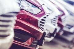 Ligne de production de voitures neuves image libre de droits