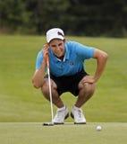 Ligne de putt du Tchad MacMillan de golf Images stock