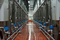 Ligne de réservoir moderne pour la mémoire de vin Image stock