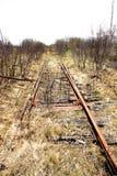 Ligne de rail abandonnée Image libre de droits