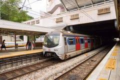Ligne de rail est Images libres de droits