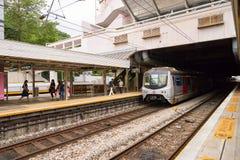 Ligne de rail est Images stock