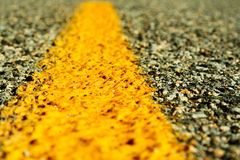 Ligne de route Photos libres de droits