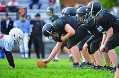 Ligne de Scimage de football américain de la jeunesse Photo stock
