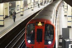 Ligne de secteur souterraine de Londres Photos stock