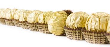 Ligne de sucrerie de chocolat Images stock