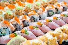 Ligne de sushi Images libres de droits