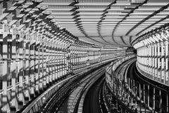 Ligne de système de transport de Tokyo - pont d'Odaiba Photographie stock