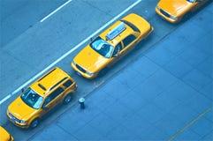 Ligne de taxi Photographie stock