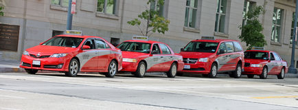 Ligne de taxi dans le Washington DC Photographie stock libre de droits