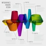 Ligne de temps calibre de conception d'infographics avec l'ensemble de diagramme. Idée à Photo libre de droits