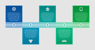 Ligne de temps infographic Illustration de vecteur Images stock