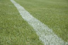 Ligne de terrain de football Photo libre de droits