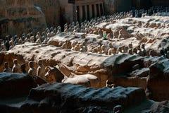 Ligne de terre cuite Guerrier-Xian-Chine Photos stock