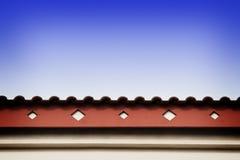 Ligne de toit avec la fasce image stock