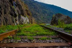 Ligne de train de Douro image libre de droits