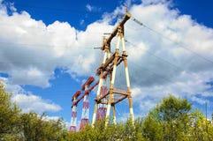 Ligne de transport d'énergie photographie stock libre de droits