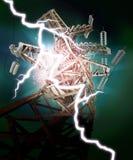 Ligne de transport d'énergie Photos libres de droits