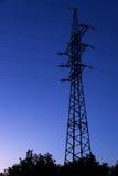 Ligne de transport d'énergie pylône Photo libre de droits