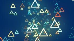Ligne de triangle de fond abstrait Image libre de droits