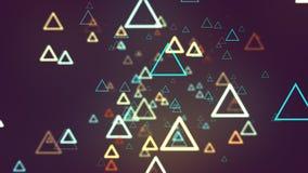 Ligne de triangles de fond abstrait Photo libre de droits