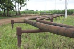 Ligne de tuyau de gaz photo stock