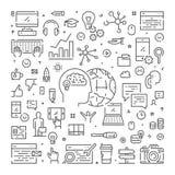 Ligne de vecteur bannière de Web pour le marketing numérique illustration stock