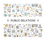 Ligne de vecteur concept de Web pour des relations publiques Photos libres de droits