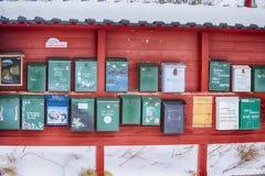Ligne de vieilles boîtes postales Photo libre de droits