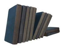 Ligne de vieux livres Photos stock