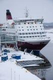 Ligne de Viking - bateau - port de Turku Photographie stock libre de droits