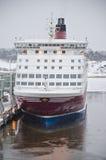 Ligne de Viking - bateau - port de Turku Photographie stock