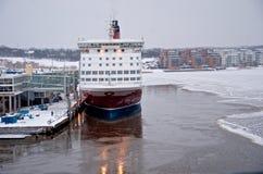 Ligne de Viking - bateau - port de Turku Photos libres de droits