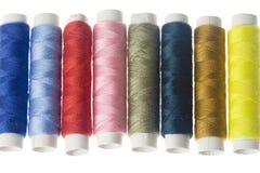 Ligne des amorçages de couture colorés Photos libres de droits