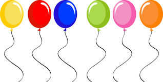 Ligne des ballons Image libre de droits