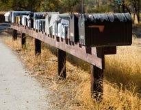 Ligne des boîtes aux lettres rurales Images libres de droits