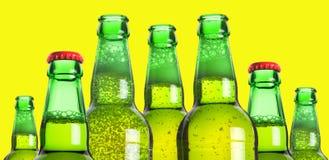 Ligne des bouteilles à bière Photographie stock