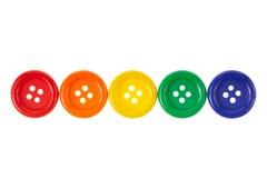 Ligne des boutons Photo stock