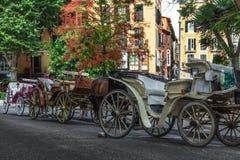 Ligne des chariots Photographie stock