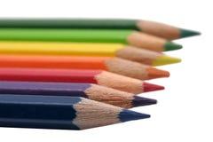 Ligne des crayons Image stock