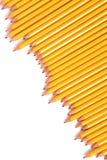 Ligne des crayons Photos stock