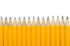 Ligne des crayons Images stock