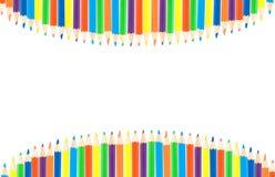 Ligne des crayons de couleur Images stock