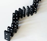 Ligne des dominos Photographie stock libre de droits