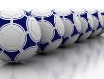 Ligne des football Photographie stock libre de droits