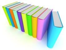 Ligne des livres Images stock