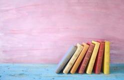 Ligne des livres Photographie stock