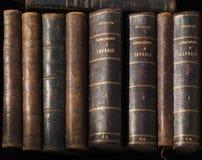 Ligne des livres antiques Photo libre de droits