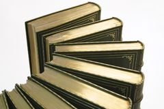 Ligne des livres antiques 2 Photo stock