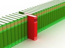 Ligne des livres sur un fond blanc. Photo stock